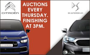 Image of Citroen and DS Automobiles auctions poster.