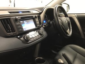 Inside view image of a Toyota Rav 4.