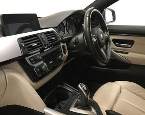 Inside view image of a BMW 4 series