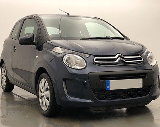 Front view image of a Citroen C1.