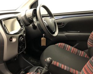 Inside view of a Citroen C1.