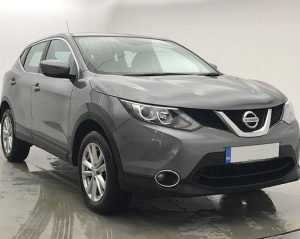 Front view of a Nissan Qashqai.