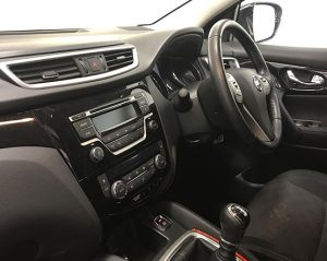 Inside view image of a Nissan Qashqai