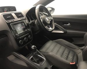 Inside view image of a Volkswagen Scirocco.