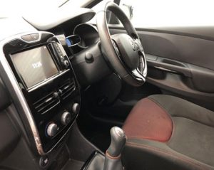 Inside view image of a Renault Clio.