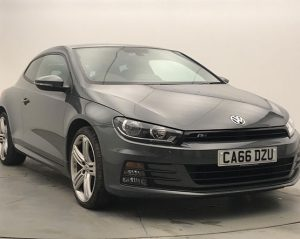 Front view image of a Volkswagen Scirocco.