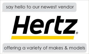 Hertz- our newest vendor